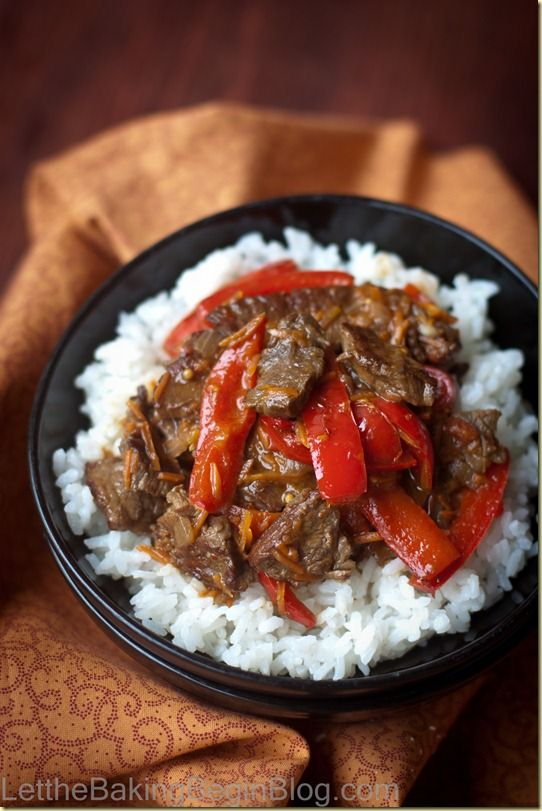 Beef & Bell Pepper over Perfectly Cooked Rice | Recipe & Instructions by Let the Baking Begin Blog!