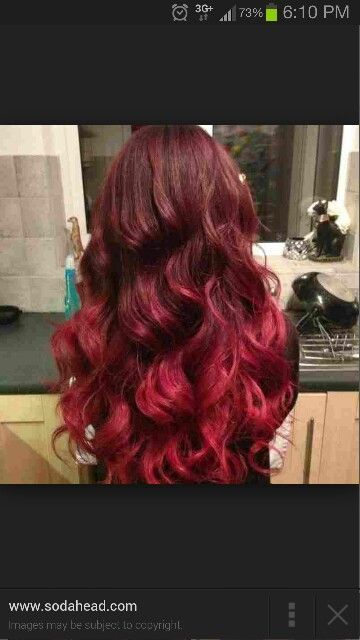 Redken Black Cherry Ombre Dark Cherry Into Bright Cherry