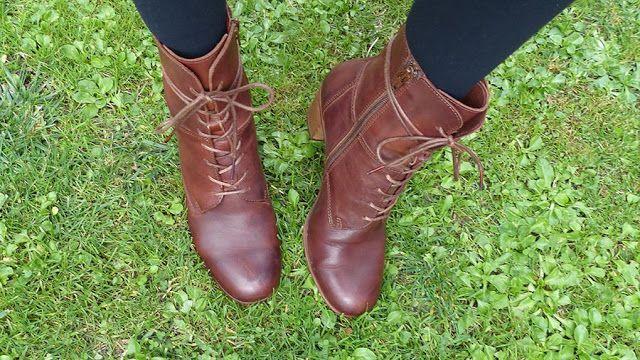 bottines marrons Kickers femme