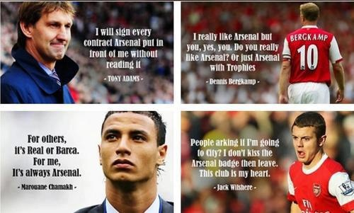 THAT IS WHAT YOU CALL LOYALTY ♥ ARSENAL always in my HEART <3  ya!!! Arsenal