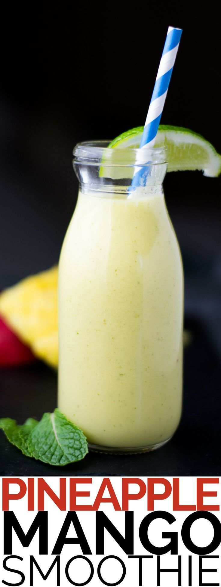 Our Thai-inspired Pineapple Smoothie adds mango, coconut milk and lime to highlight the tropical diversity of Thailand.