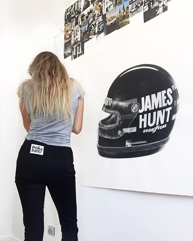 The Finished Drawing  JAMES HUNT BELL HELMET, hyperrealistic painting by KAWCARS on Instagram
