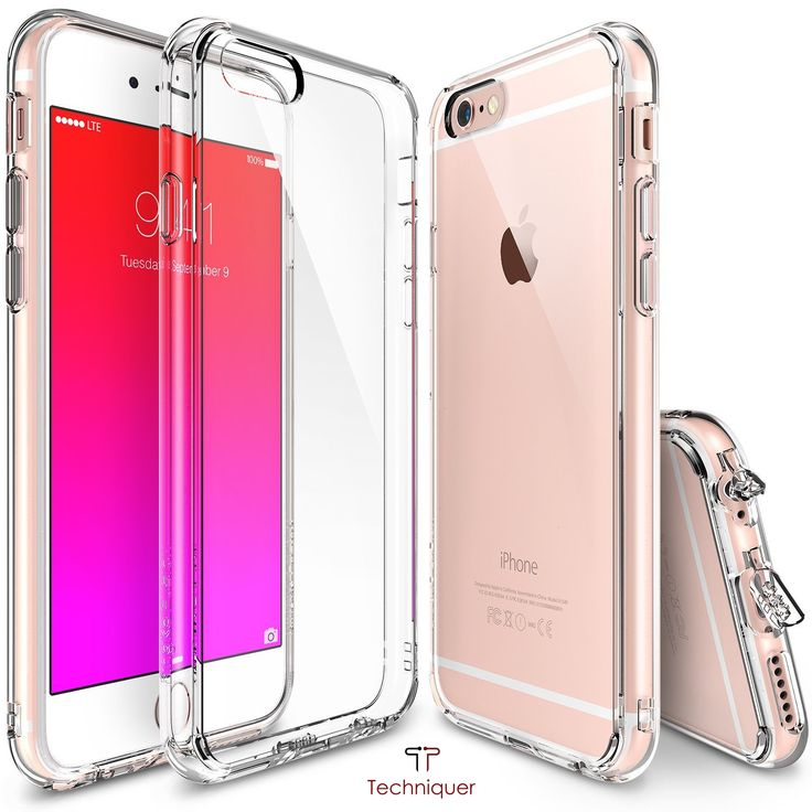 """iPhone 6 Plus Case / iPhone 6S Plus Case [5.5""""],Ultra Slim[0.6mm] Lightweight[0.8g] Transparent TPU Bumper Case with Dust Caps for Max Protection & Shock Absorption-Lifetime Warranty 100% Satisfaction."""