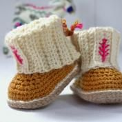 Baby Bow Shoes crochet pattern - Allcrochetpatterns.net