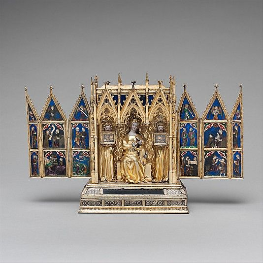 Attributed to Jean de Touyl (French, died 1349/50). Reliquary Shrine, second quarter 14th century. French. The Metropolitan Museum of Art, New York. The Cloisters Collection, 1962 (62.96) #Cloisters
