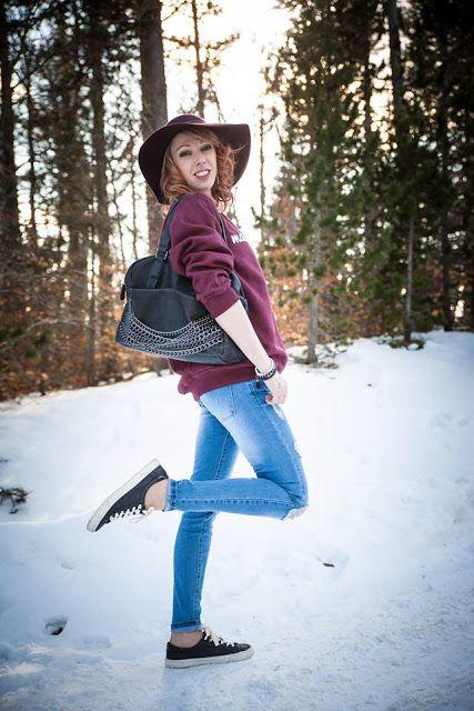 Cyrielle porte un #jeans BABOU et surtout son nouveau #sac #Rock (15€) !!!
