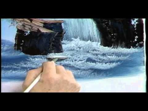 Боб Росс - Учимся рисовать воду.(с переводом на русский)