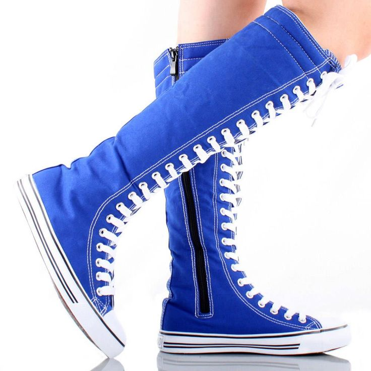 blue knee high converse shoes converse