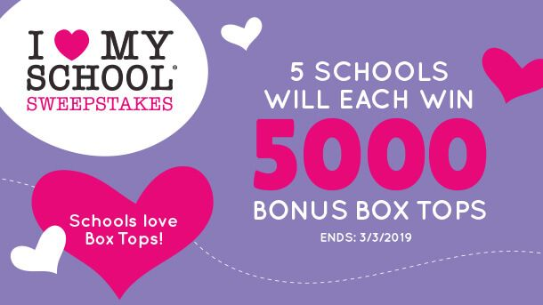 I Love My School Sweepstakes 2019  Five Grand Prizes: each prize is