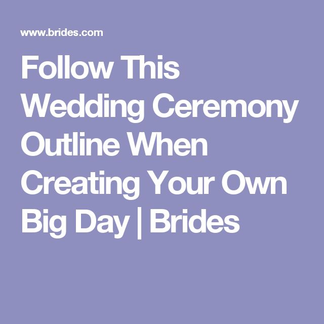 The 25 Best Wedding Ceremony Outline Ideas On Pinterest