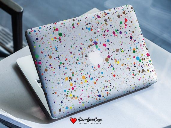 Paint stains colorful print case for all macbook model double sided clip cover Case Macbook pro reti