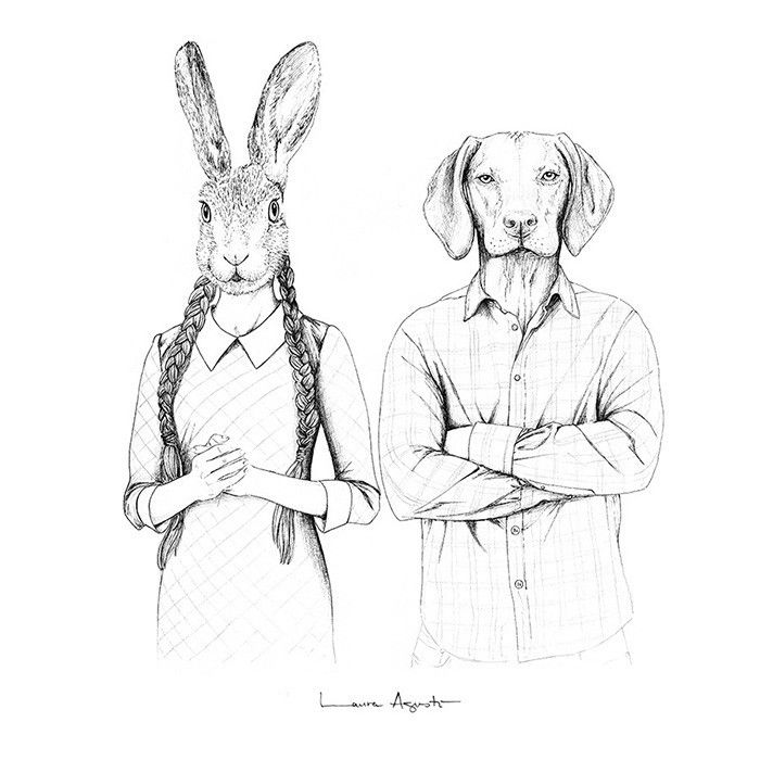 Lámina Laura Agustí - Mr. & Mrs. Norwich