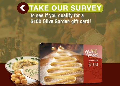 Win A Olive Garden $100 Gift Card