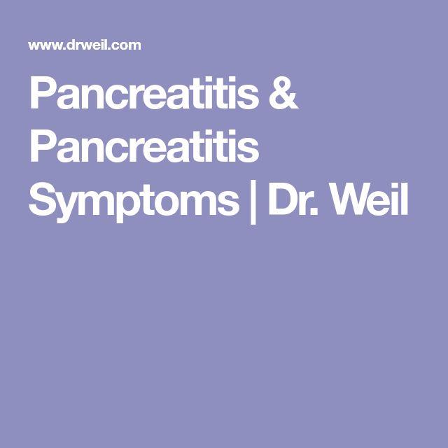 Pancreatitis & Pancreatitis Symptoms | Dr. Weil