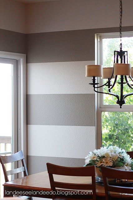 How-to paint perfect stripes - dining room