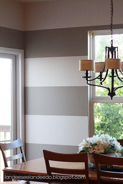 horizontal stripe walls.