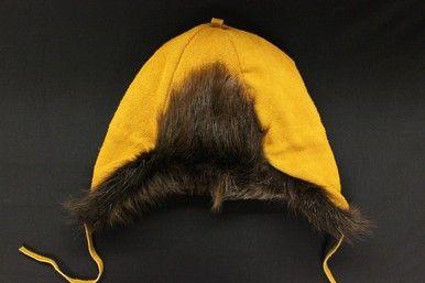 MEN'S MOOSE HIDE AND BEAVER FUR HAT #Kitigan