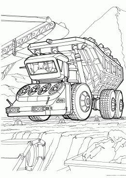 Раскраска Большой грузовик | Раскраски, Мальчики ...