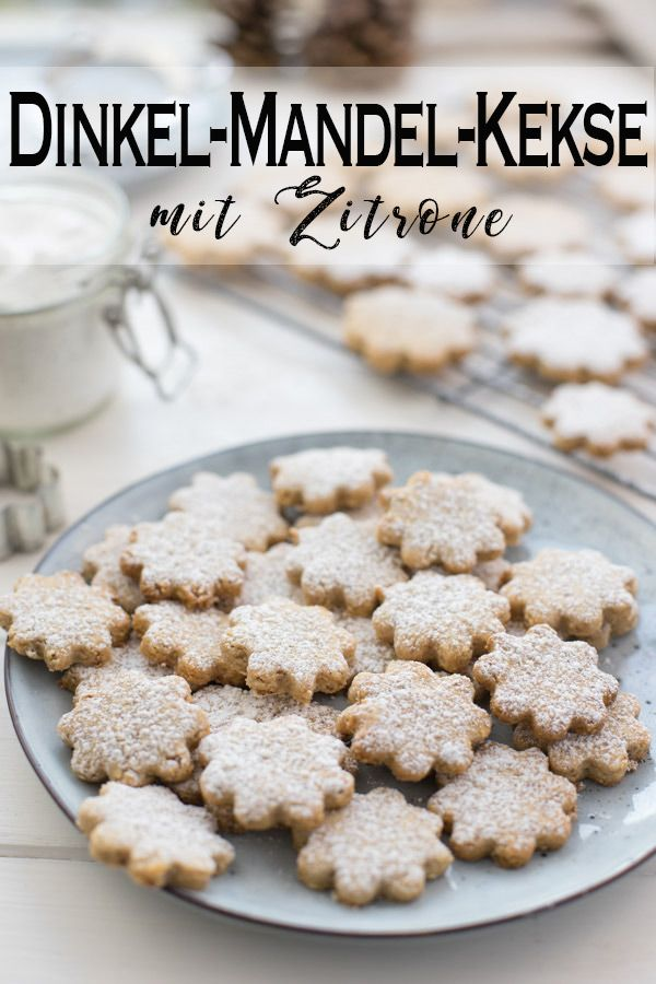 Dinkel-Mandel-Kekse mit Zitrone