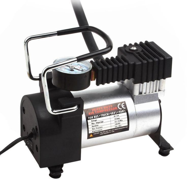 Heavy Duty Compresor De Aire Portátil 12 V 140PSI caliente/965kPA Bomba Eléctrica Para Inflar Herramienta Del Cuidado de Coche