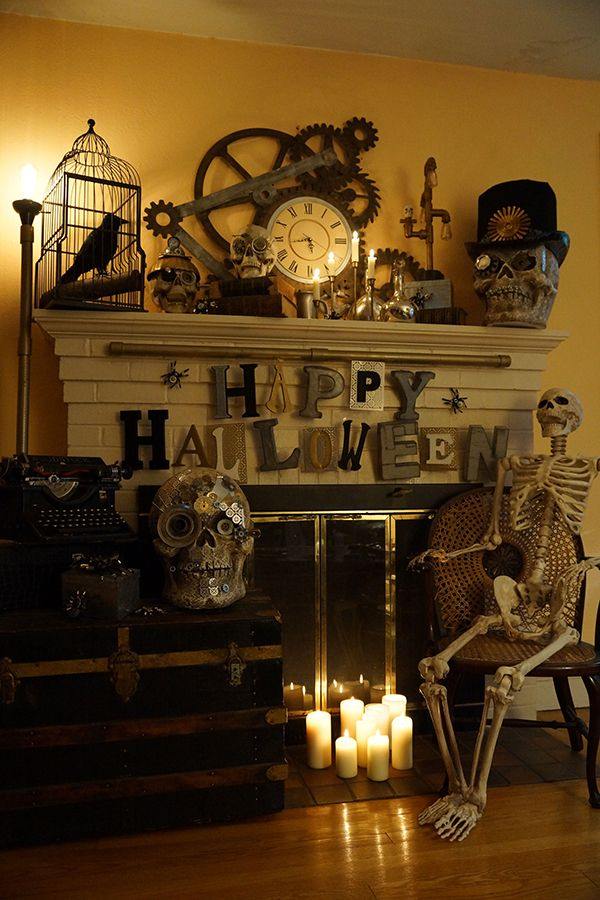 25 diy halloween decorations ideas steampunk home decorcraft - Halloween Home Decor Ideas