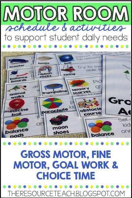 The Resource Teacher: Structured Motor/Sensory Room Activities