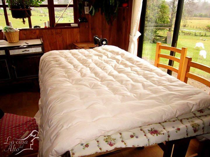 Cobertor 2 plazas en blanco. Perfecto para regalo de bodas!