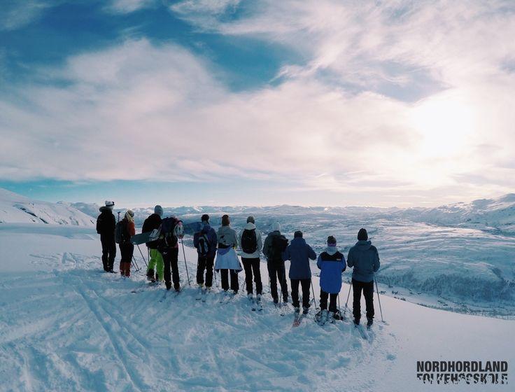 Nordhordland Folkehøgskole, topptur på ski