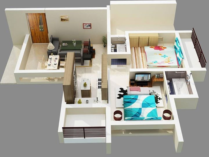 agreeable design your own house game 3d. 50 Two Bedroom ApartmentHouse Plans  3d House 68 best floor plan images on Pinterest Apartment plans