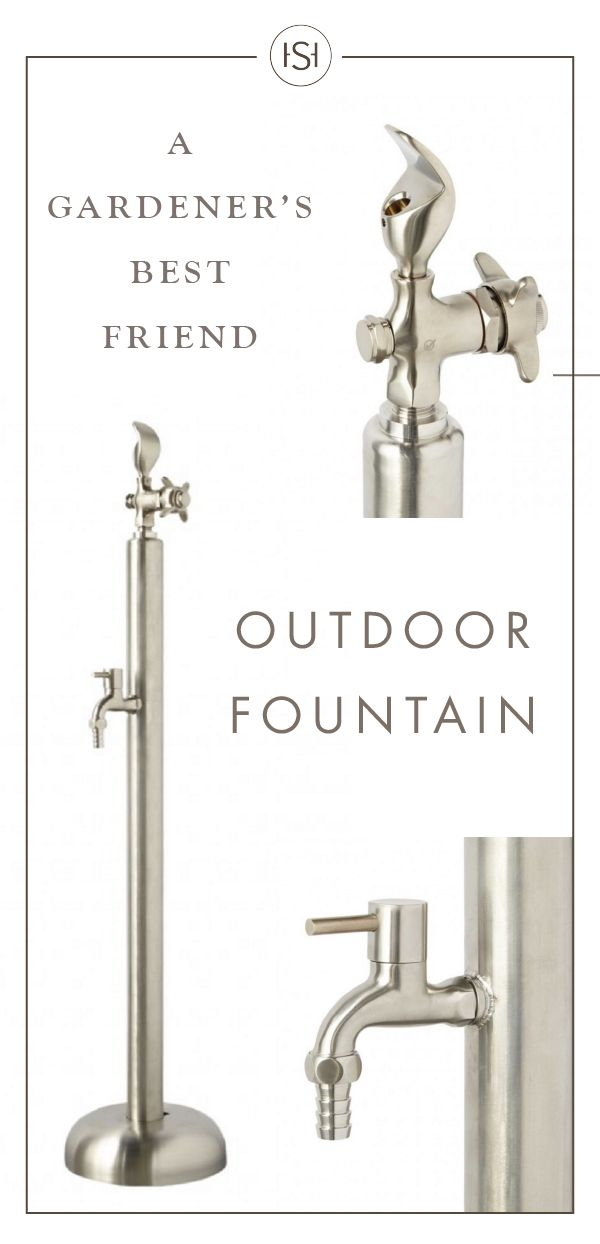 This Stainless Steel Outdoor Drinking Fountain is sure to make your garden and backyard area thrive with life. The stylish spigot is every gardener's dream—think of how easy it will be to water your plants!