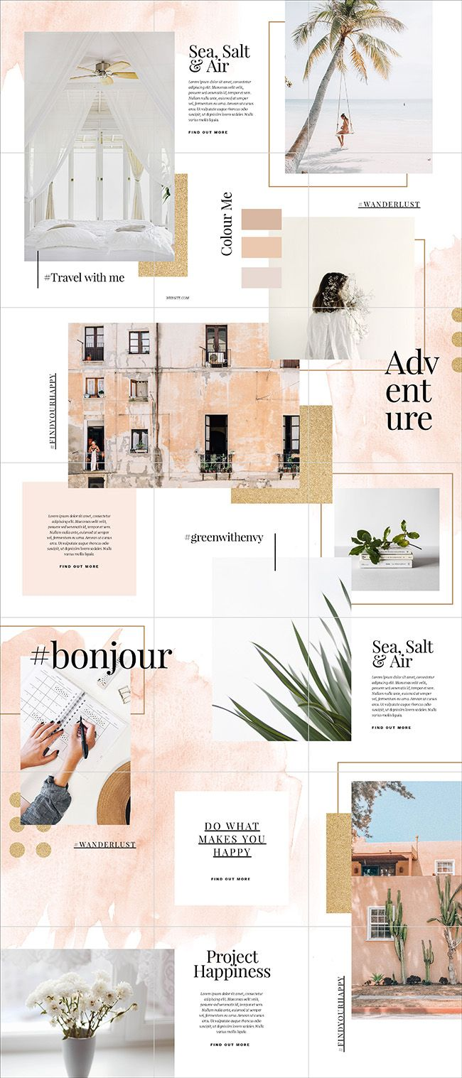 How To Create A Beautiful Instagram Puzzle Feed 5 Free Templates Easil Instagram Feed Layout Instagram Design Layout Instagram Grid Design