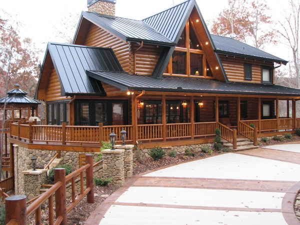 1000 Images About Log Cabins Homes On Pinterest
