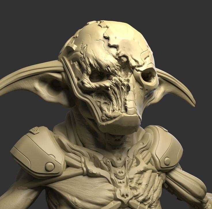 Yoda Character Design : Artstation darth yoda nikolay tsys creatures
