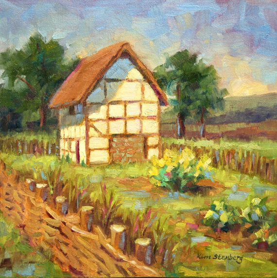 Old English Cottage England Old World Country Spring
