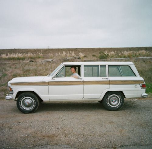 Mariah Gardner [education coordinator, SF Maritime Nation Park Association] with her 1973 Jeep Wagoneer - David Franklin