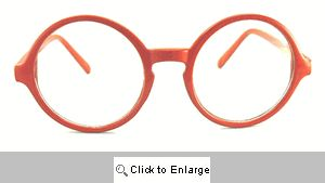 Crayon Big Round Clear Glasses - 553 Red