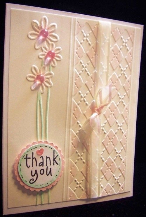 Card Making Ideas With Embossing Folders Part - 18: Great Idea For Embossing Folder... Embossed CardsThank ...