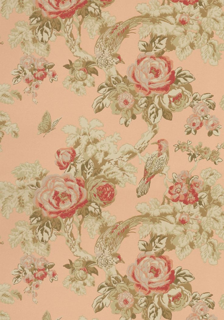 BIRD IN THE BUSH, Peach, AT10116, Collection Wild Flora from Anna French