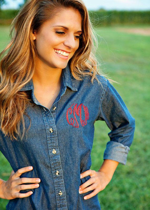 best 25  ladies denim shirt ideas on pinterest