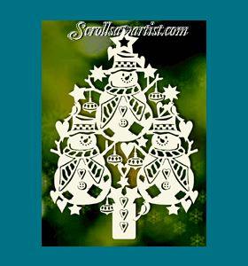 Scroll Saw Patterns :: Holidays :: Christmas :: Trees :: Snowmen tree -