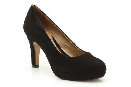 Womens Smart Shoes - Anika Kendra in Black Suede from Clarks shoes