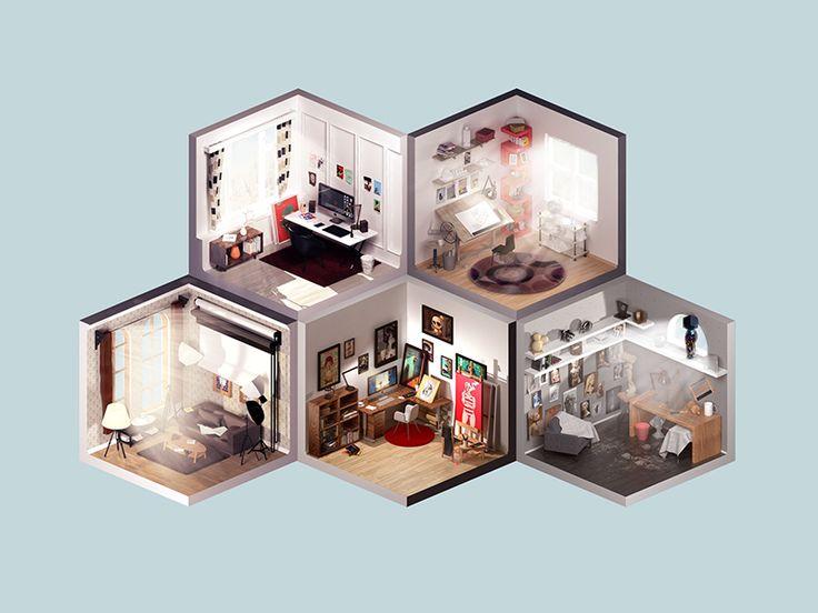 Room of artist by Petr Kollarčík