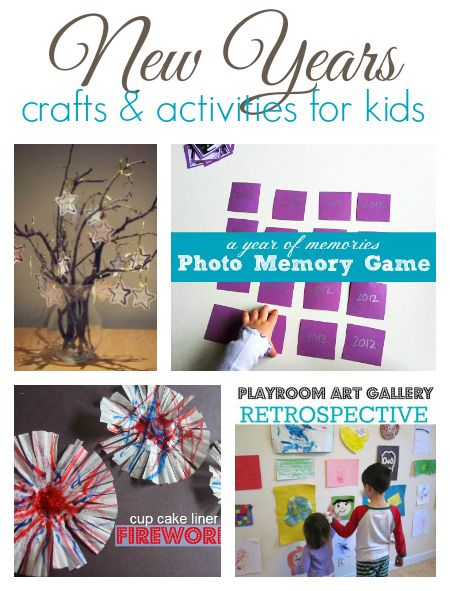 9 New Years crafts and activities for young kids. These are all really fun ways to celebrate New Years Eve with kids!
