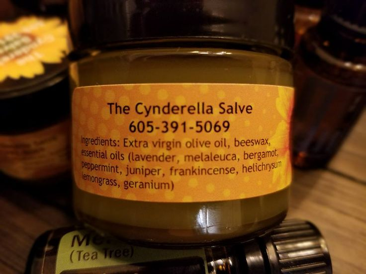 The Cynderella Salve - Made from essential oils for my excema.  Turns out many people use it for just about anything skin related! People tell me they use it on tattoos, cracks in feet and hands, rashes, chapped cheeks and hands, faces, excema, nails and cuticle conditioning.....