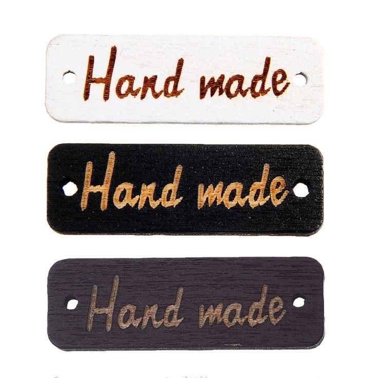 100 unids 2 agujeros botones hechos a mano para la etiqueta de la marca botone botones para la ropa de costura diy scrapbooking decoración de madera decorativa