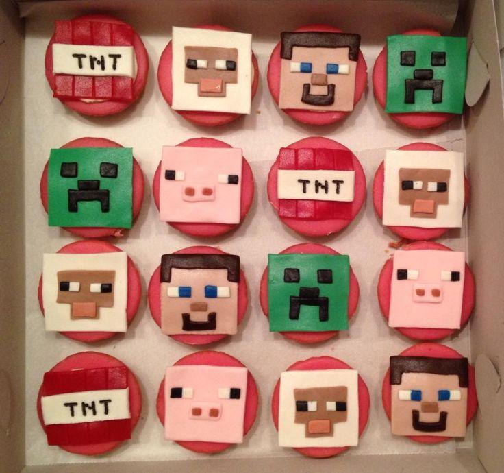 minecraft cupcakes (2014) koen 6 jaar trakteren op school