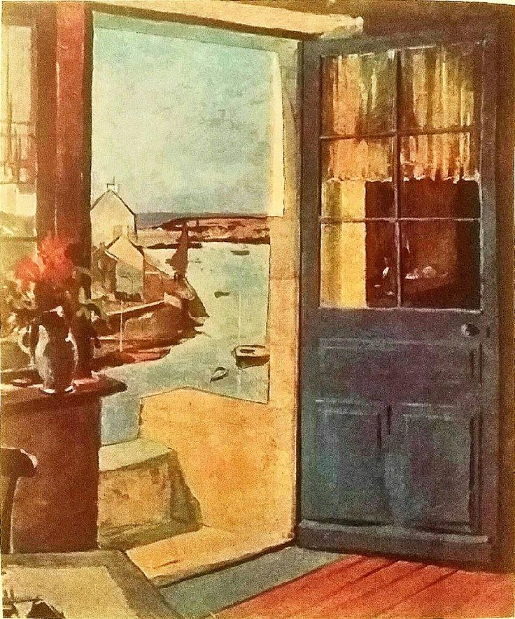 Excited to share the latest addition to my #etsy shop: Raymond Wintz Blue Door 1925 Vintage Lithograph #art #lithograph #birthday #mothersday #portadoelan #portebleue http://etsy.me/2zhZenT