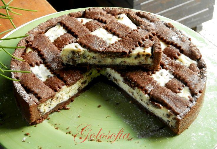 Crostata al cacao con ricotta e gocce di cioccolato, un dolce fantastico! bello anche da presentare, conquisterà tutti! #italianfood