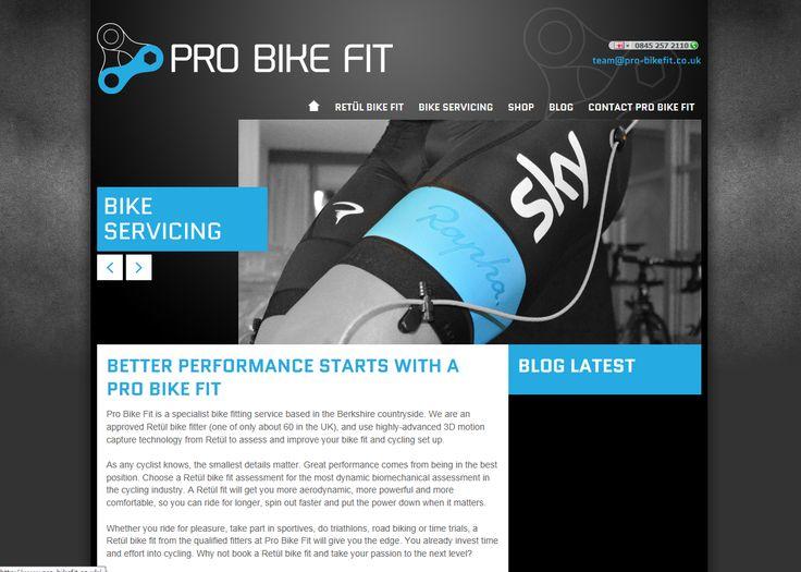 Website Sneak Peek www.pro-bikefit.co.uk