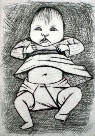 John Brack ~ Fourth Daughter, 1954